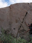 Rock Climbing Photo: Dr Livingston (V1) from the ground. Just out of th...