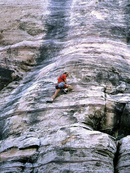 """Grant Hiskes o """"Ice Climb"""".<br> Photo by Blitzo."""