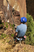 Rock Climbing Photo: Rob L. Kick'n it at the Roof Routes in Eldo