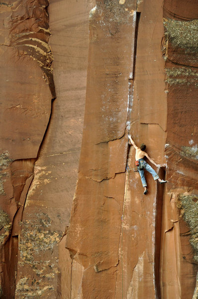 "Rock Climbing Photo: Wills on ""Kansas Connection"" at the 4x4 ..."