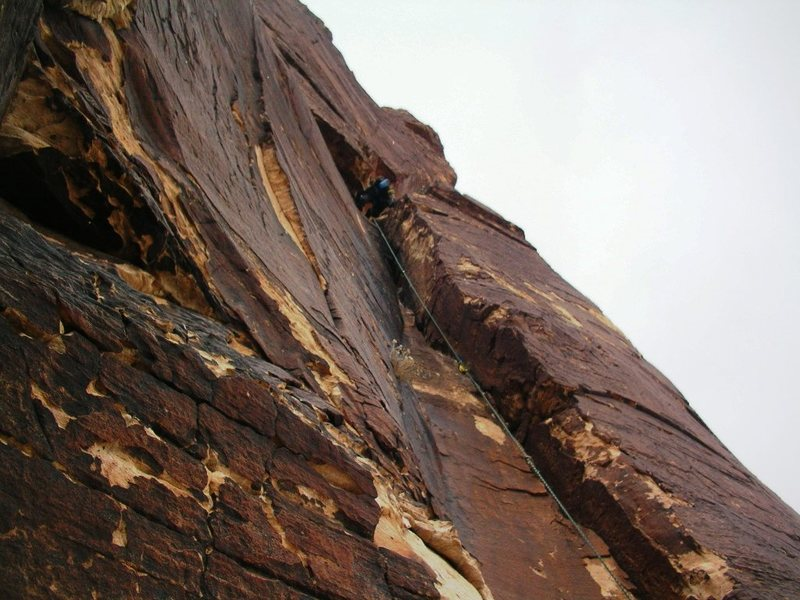 First Pitch of Rainbow Buttress