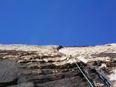 Rock Climbing Photo: Sunflower on Upper Solar Slab 5.9. Second Pitch.