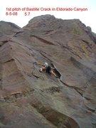Rock Climbing Photo: Bastille Crack 5.7