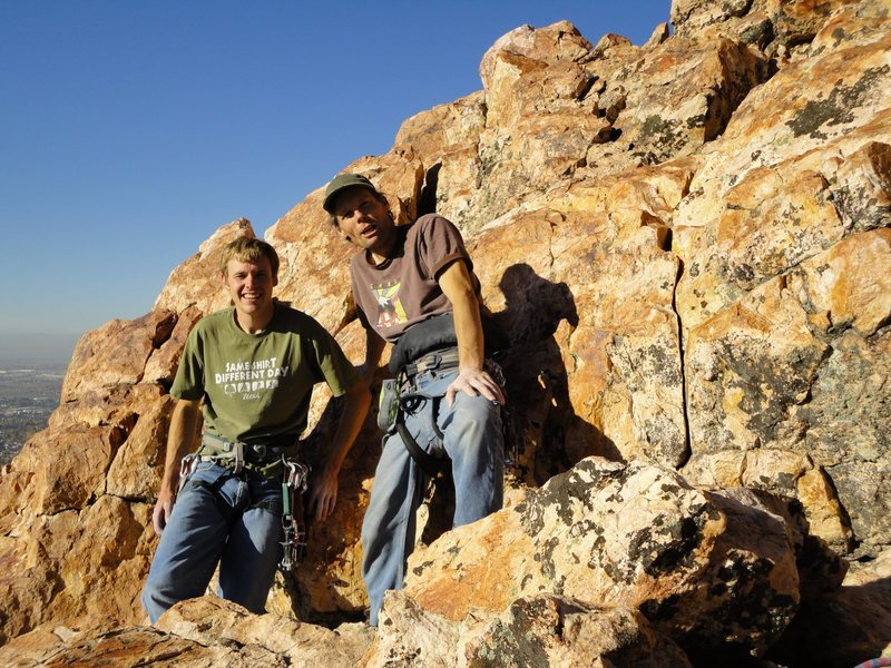 Rock Climbing Photo: Summit photo.  Me and The Boss.