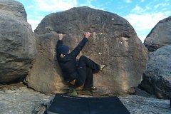 Rock Climbing Photo: The starting position for Yukon Cornelius.