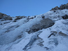 Rock Climbing Photo: L. Knapp leading on the main wall (mid December 20...