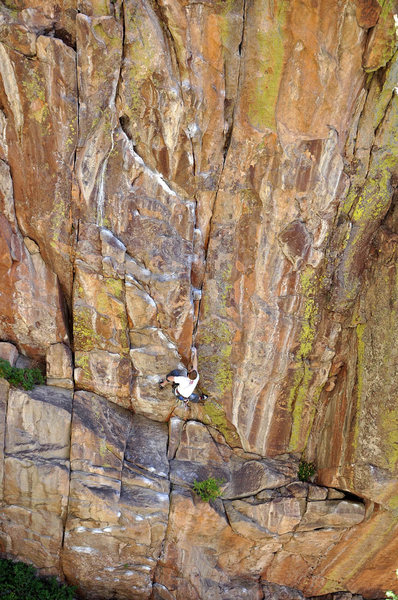 Rock Climbing Photo: Eldorado Canyon Cody Scarpella on Sequential