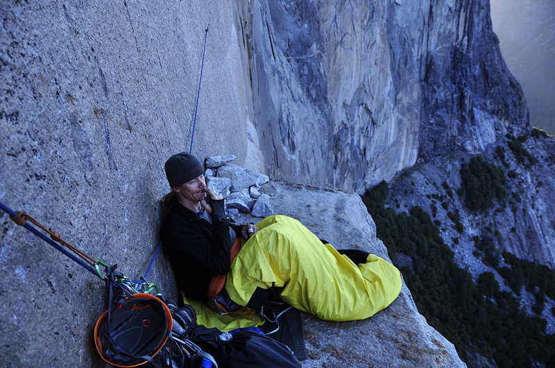 Rock Climbing Photo: 1st Bivy on El Cap