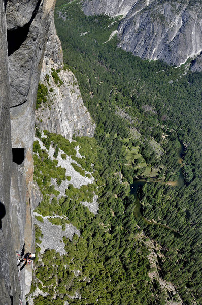 Rock Climbing Photo: The Japanese team of 5 (one shown)on El Cap