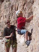 Rock Climbing Photo: Azenda and Ian at Shelf.