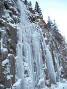 Rock Climbing Photo: Poachin I-70 ice on the way to Loveland pass!!!