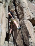 Rock Climbing Photo: A.Z getting ready to yell at me for putting her on...