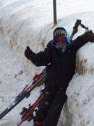 Rock Climbing Photo: Skian hitchin a ride on the pass!!!