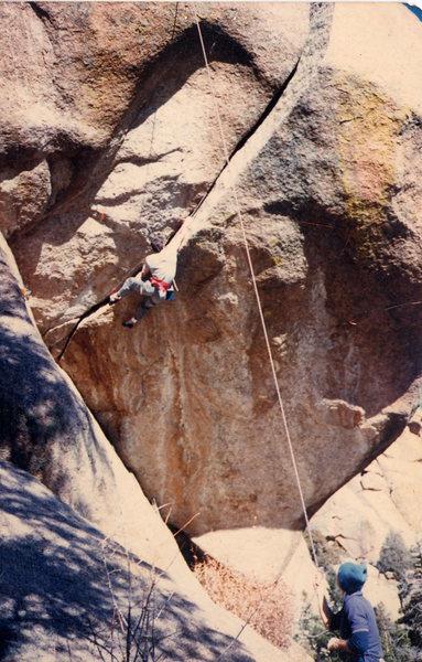 Rock Climbing Photo: Rufus Miller top roping Bad JUJU. This image was t...