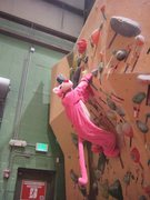 Rock Climbing Photo: The pink panther, aka: Lucy Clark, boulders at Ear...