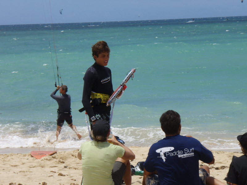 Kai at the Nash Maui &quot;Kite&quot; Race Series<br> Photo: Olaf Mitchell