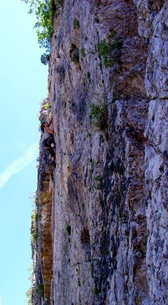 Rock Climbing Photo: Somewhere in SLC.  My friend Ben took us out climb...