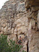 Rock Climbing Photo: Climber on TDS @ C1.