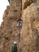 Rock Climbing Photo: BR belaying Brandon on 3rd ascent.