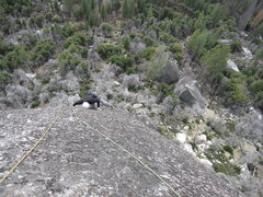 Rock Climbing Photo: Following the last pitch. You can see the mediocre...