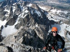 Rock Climbing Photo: Finishing up on the top of the Y pitch on the Exum...