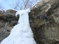 Rock Climbing Photo: Ascending the repel line and ascending the Falls. ...