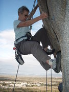 """Rock Climbing Photo: Susan on the right side variant of """"Spank you..."""