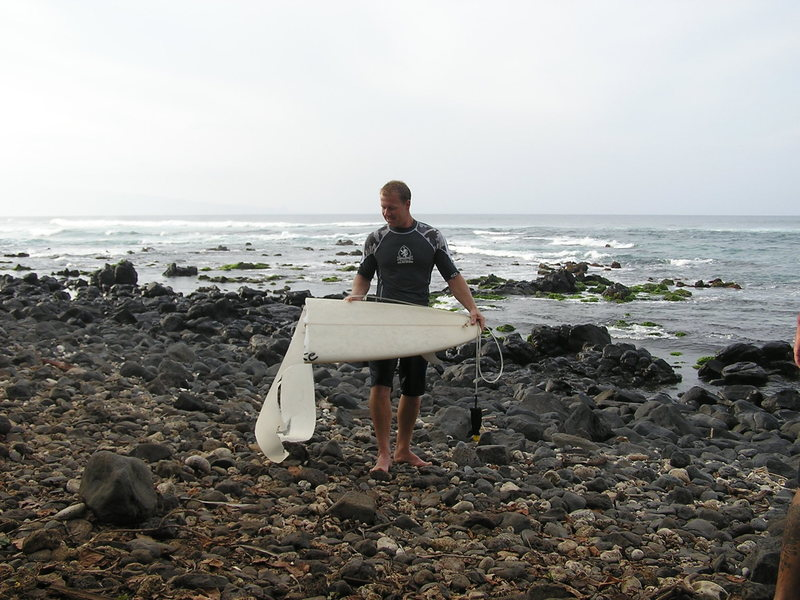 Rock Climbing Photo: Dale's surfboard after yesterdays surf session at ...