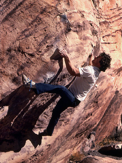"Rock Climbing Photo: John Long on ""True Hands"". Photo by Blit..."