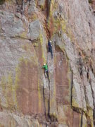 Rock Climbing Photo: Taken from the West Ridge.  Climber is on the 5.9 ...