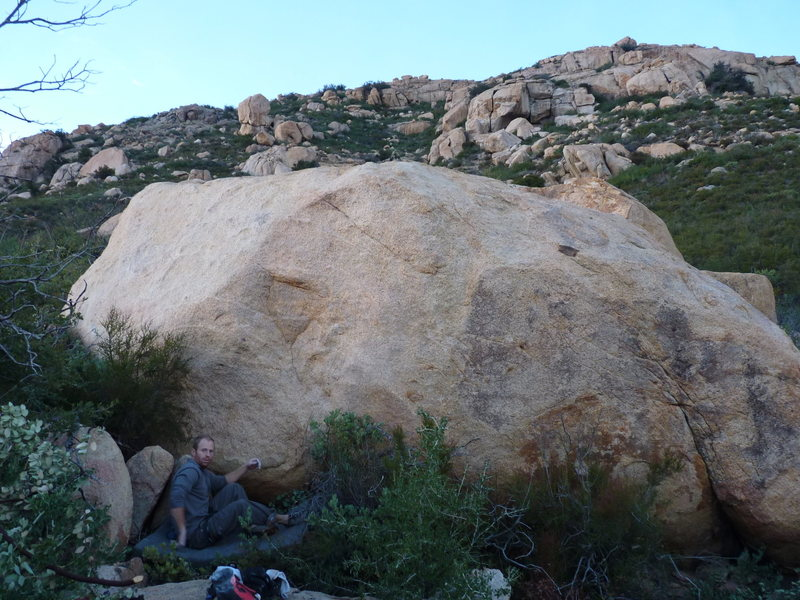 Rock Climbing Photo: The Magellan Boulder.