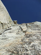 Rock Climbing Photo: the 3 lines become visible after the pulling the r...