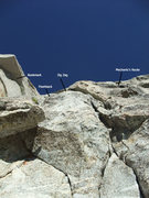 Rock Climbing Photo: the lines above viewed from P1