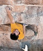 Rock Climbing Photo: WesABQ coming up just short on the reach for the j...