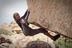 Rock Climbing Photo: Jenny on the finishing moves of S-Curve.  Photo by...