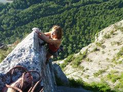 Rock Climbing Photo: Top of second pitch of High Plains Drifter.