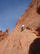 Rock Climbing Photo: Starting up the first pitch of Tidrick's.  photo b...