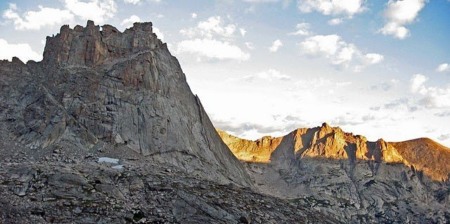 Rock Climbing Photo: The Spearhead from Pagoda's N. Buttress.