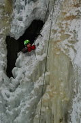 Rock Climbing Photo: Arseny Pekurovsky climbs out of the waterfall...