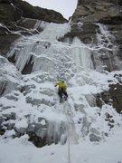 Rock Climbing Photo: First pitch. Dec 2010