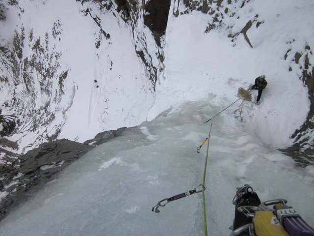 Looking down the second pitch. Dec 2010