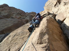 Rock Climbing Photo: Just after the difficult opening moves.