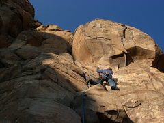 Rock Climbing Photo: Above the first ledge, midway up.