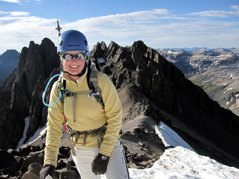 Rock Climbing Photo: Standard Route on Sneffels,  San Juan Range, CO Ju...