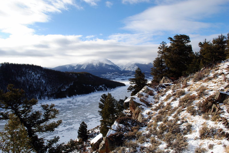 Buffalo Mountain from Lake Dillon, <br> Dillon, CO<br> December 2009