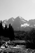 Rock Climbing Photo: Maroon Bells from Maroon Lake