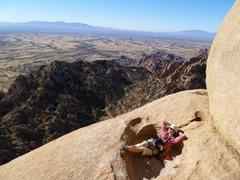 Rock Climbing Photo: Sunshine bath in Cochise  November 2010  Photo by ...