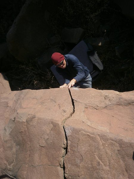 Rock Climbing Photo: Ouchie!