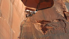 Rock Climbing Photo: I thought this might have been easier to try jammi...