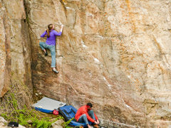 Rock Climbing Photo: Jennica Hirrlinger and Dean Lords. The start holds...